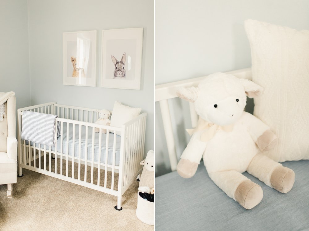 white crib nursery