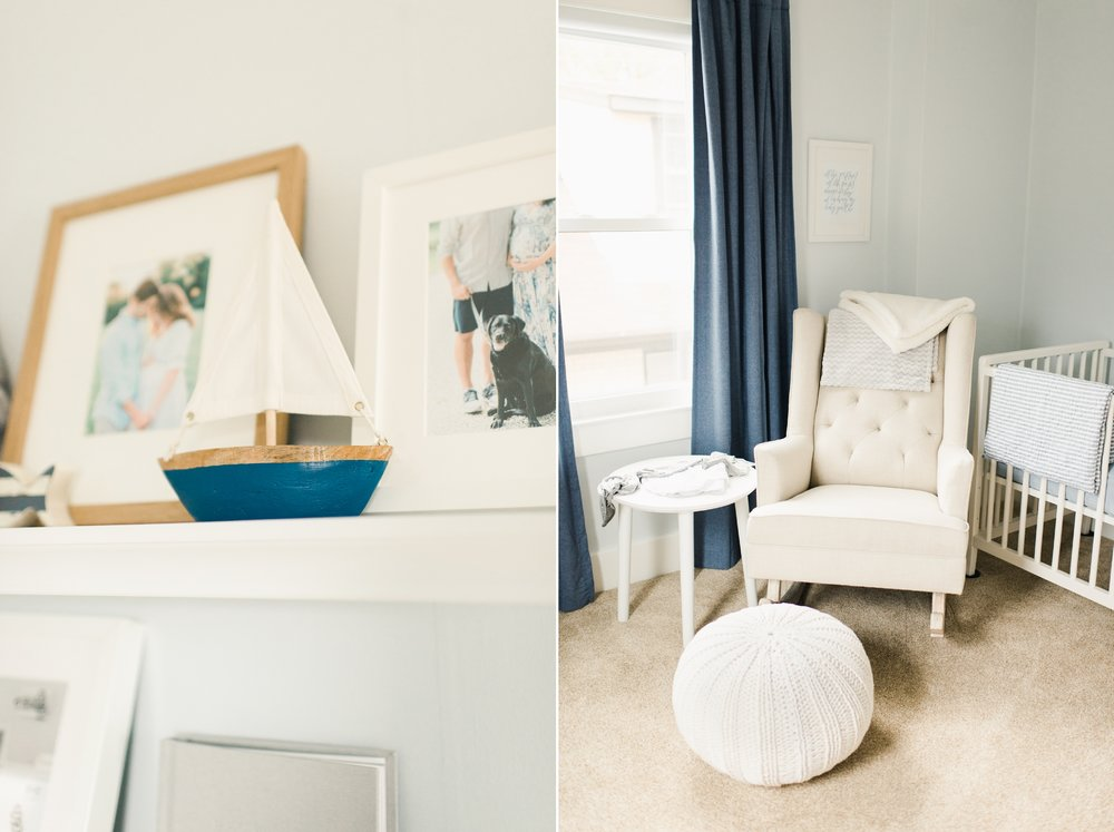 blue nautical themed nursery