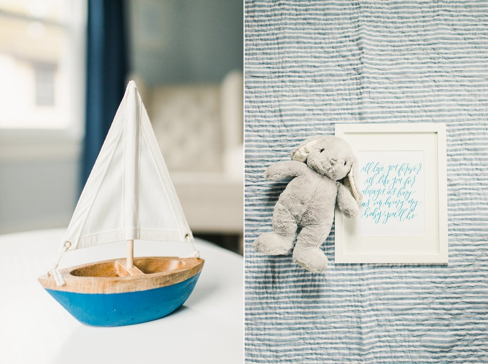baby boy nursery, sailboat, calligraphy