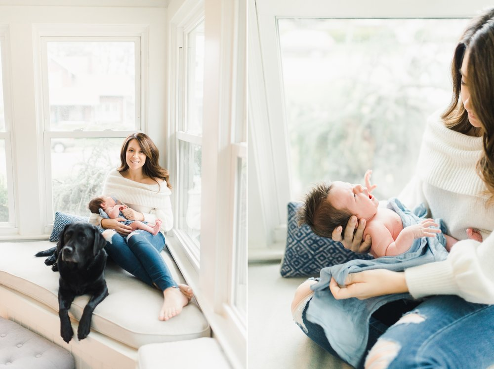 modern, bright newborn session in cincinnati, ohio