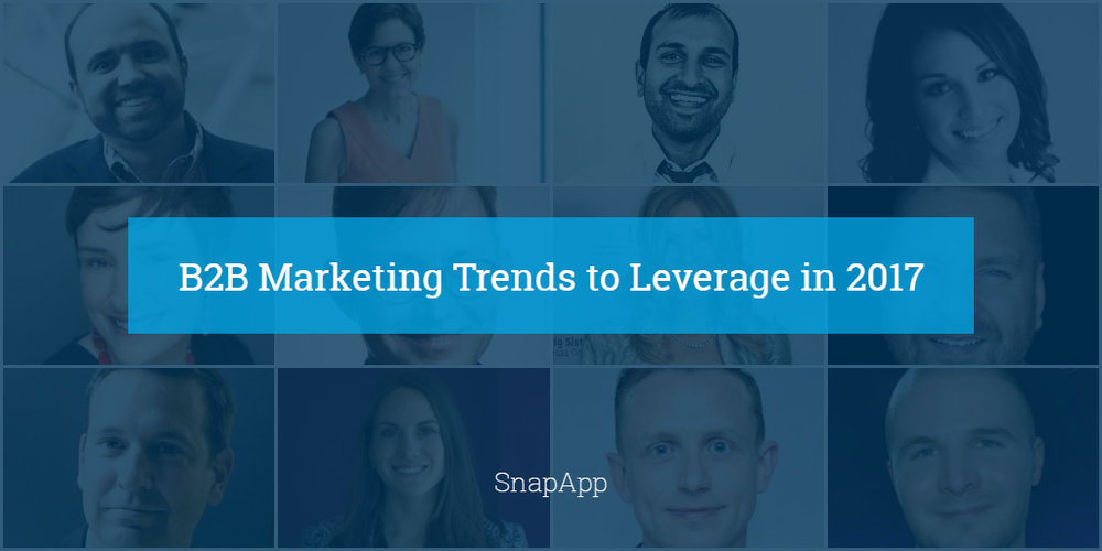 Guest appearance in SnappApp's 2017 B2B Marketing Expert Round Up