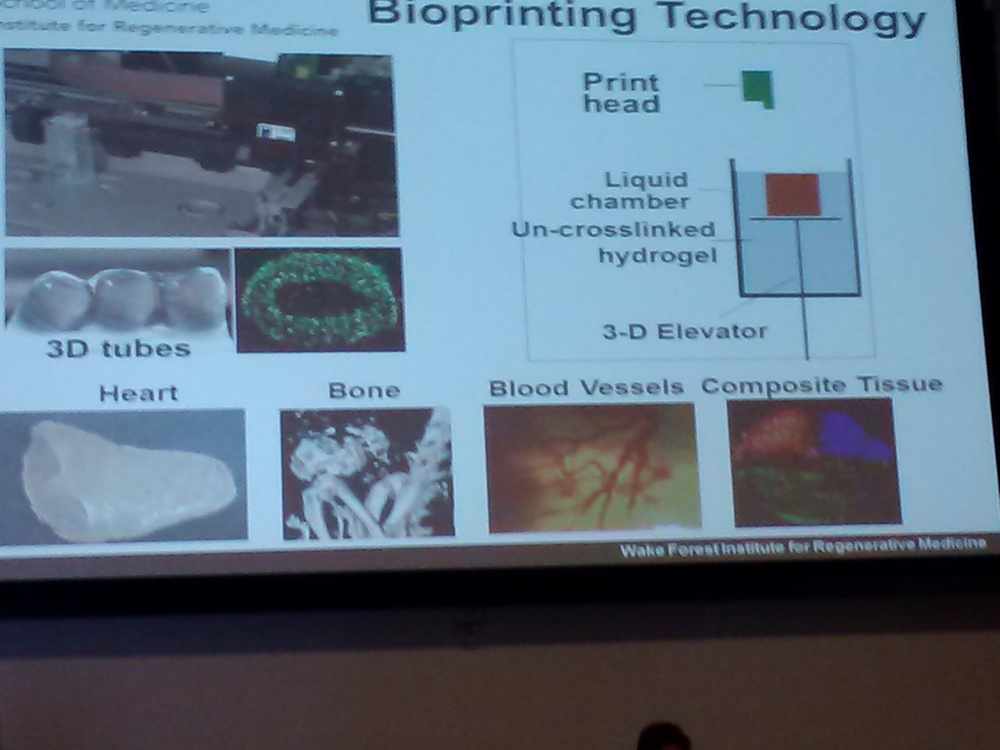 Wake Forest Presenter Dr. Yoo shares his institution's research on bioprinting