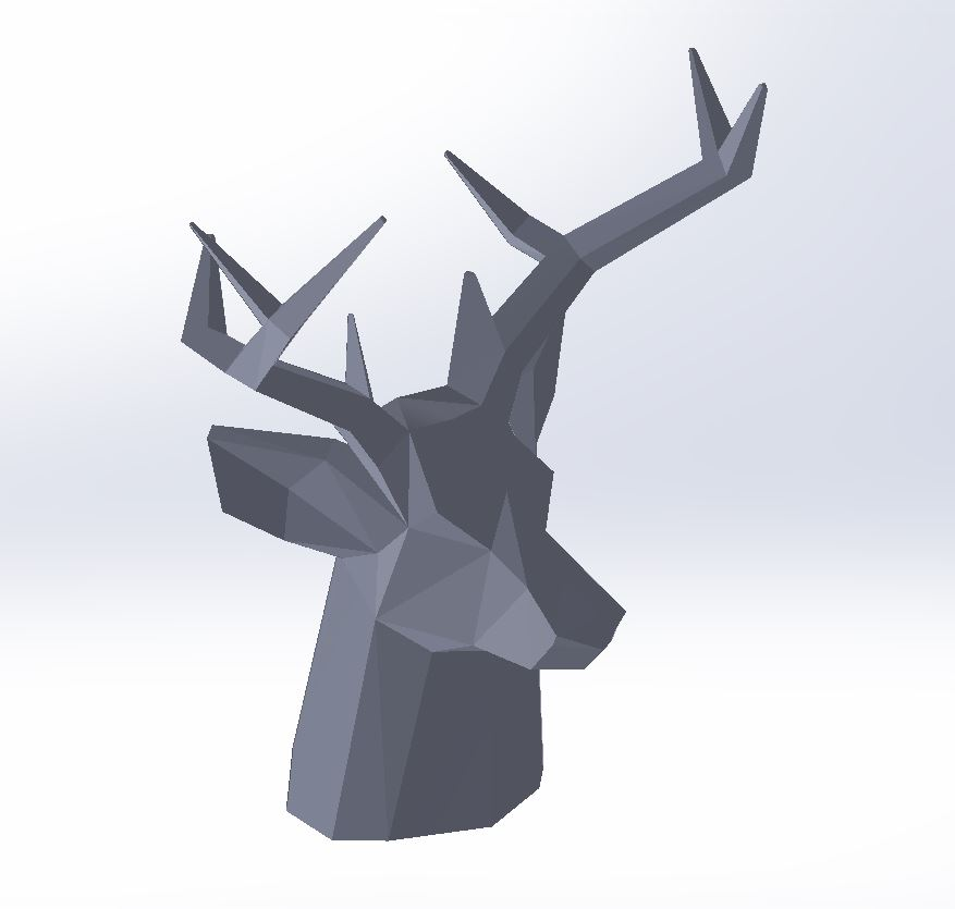 3D CAD Model of Stag