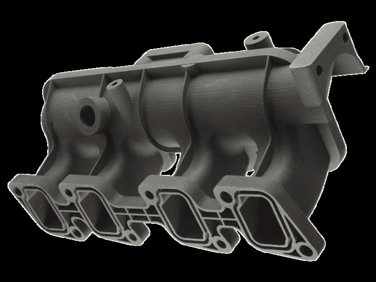 3D printed nylon PA-12 part manufactured using the HP Multi Jet Fusion 3D printer.