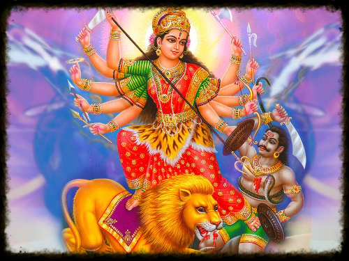Goddess Durga Slaying an Asura