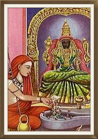 Adi Shankara and Kamakshi Ambaal