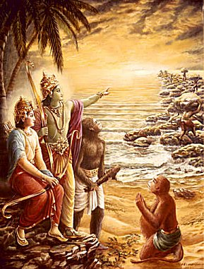 Ram, Lakshman and Vanaras.jpg
