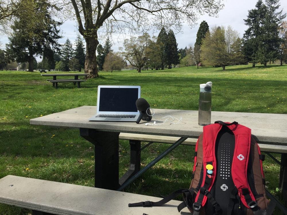 Outdoor Podcast Studio