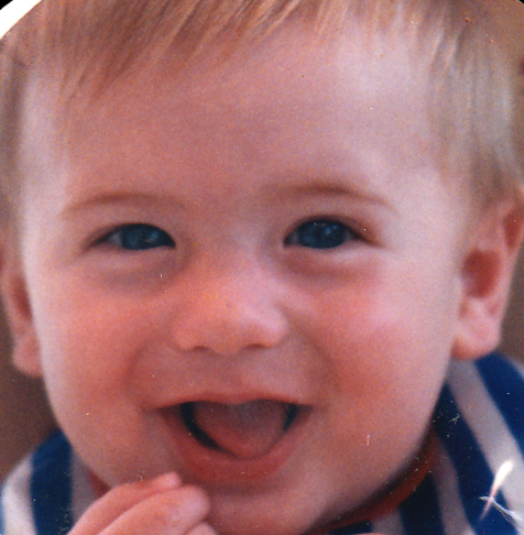 This baby became James Larsen. True story.