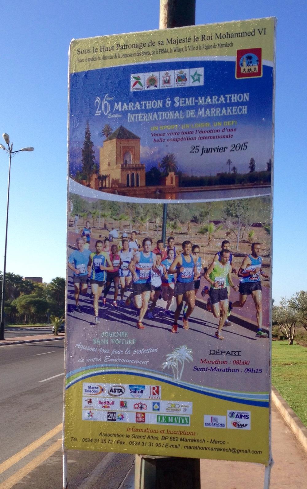 Marrakech Marathon race poster