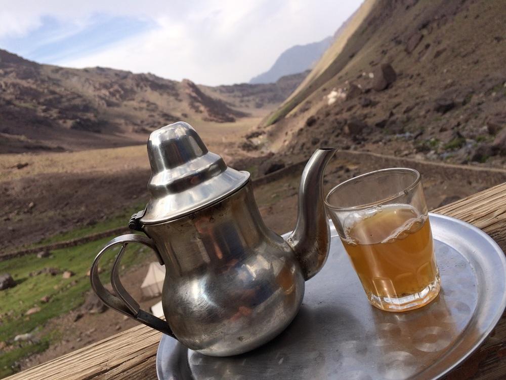 Tea after arriving at the Refuge