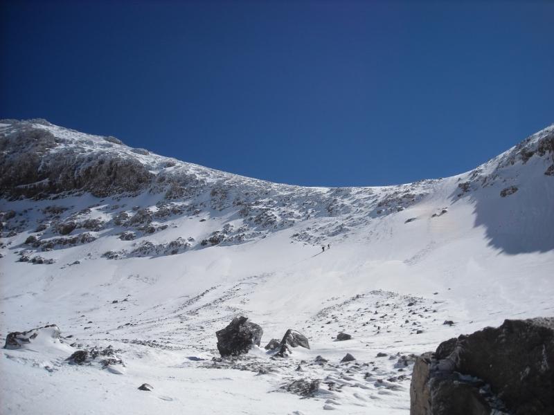 Snowy ridge line near Toubkal summit