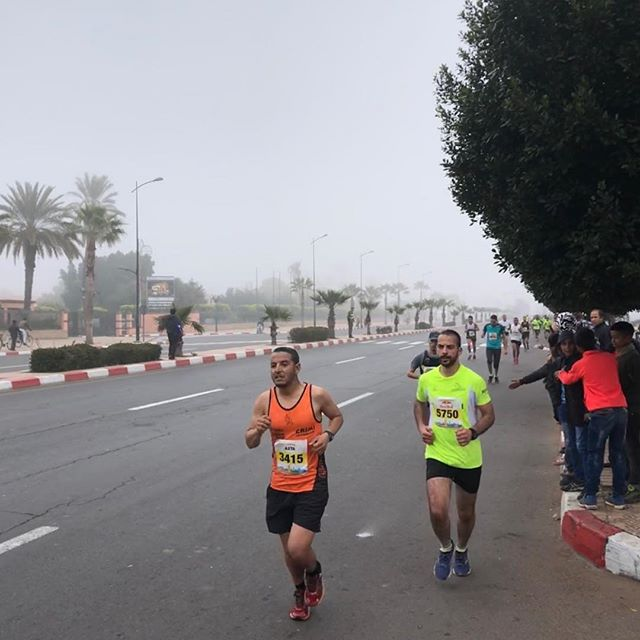Congratulations marathon and semi-marathon finishers. Hope you enjoyed a foggy run in our city.  #marrakechmarathon #runninginmorocco #runmorocco #sightrunning #goforarun #training #igersmorocco #igrunning #health #run #runners #running #morocco #travel #runnerslife