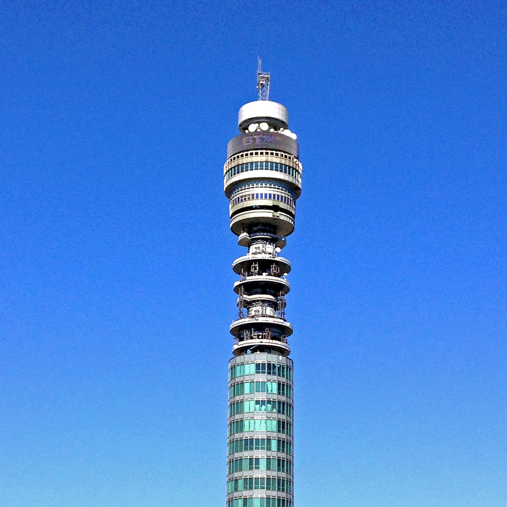 BT tower in the sunshine.