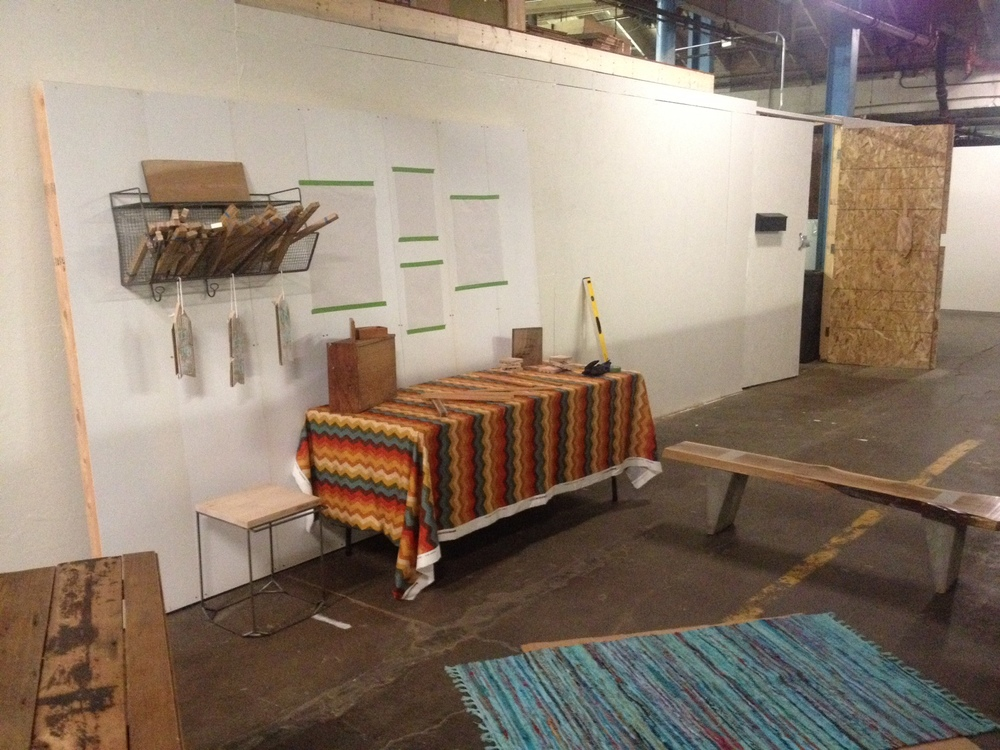 The dry run of our Renegade Craft Fair booth display.