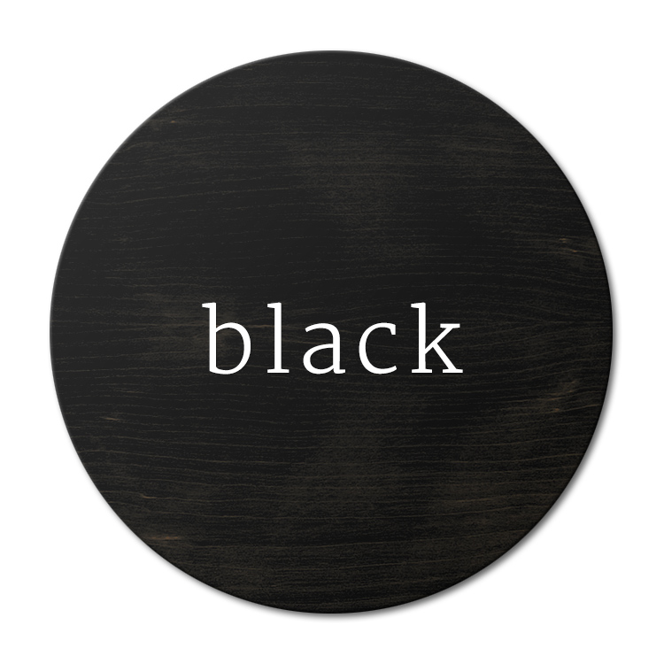 Black-Painted Solid White Oak