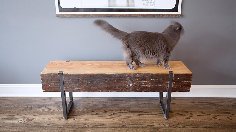 Custom Reclaimed Bench