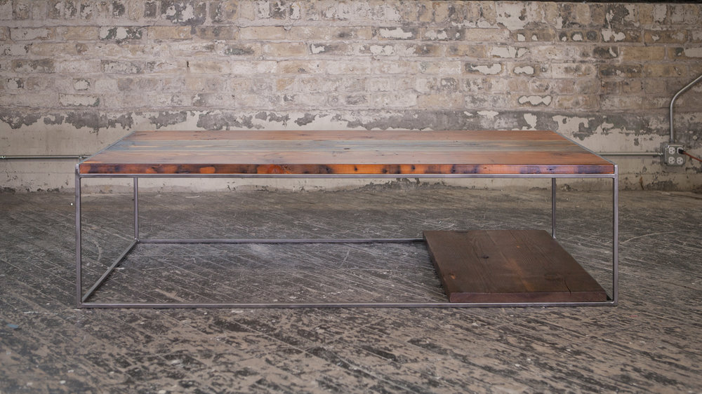 Raw Steel Coffee Table