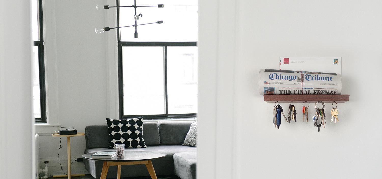 Floating Magnetic Key Shelves — Well Made