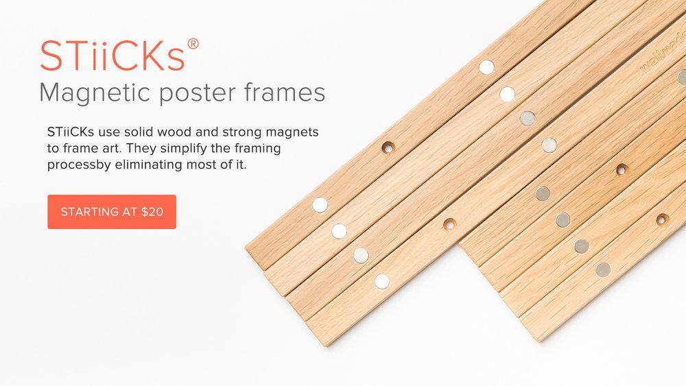 STiiCKs magnetic frame rails