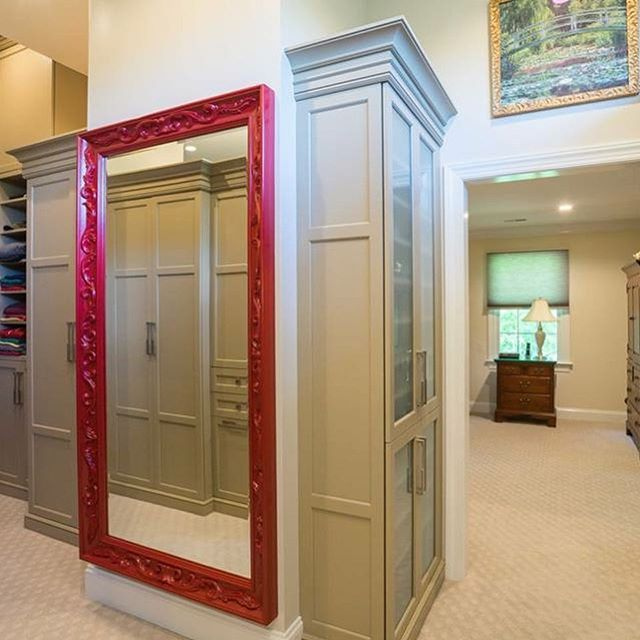 I have far to much storage space.... Said no one ever!  We don't just do kitchen cabinets. We build custom built-in cabinets for your bedroom too. All your clothes and accessories nicely tucked away and stored behind beautiful cabinetry. #masterbedroom #custommade #customvanity #mainlinepa #phillyhomeshow #philadelphiaorchestra #nkba #nari