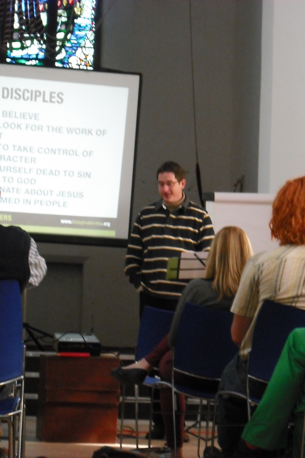 Marcus in action, training leaders in Southampton, 2013