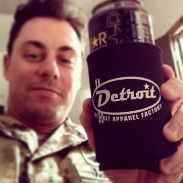 Check out Rick enjoying a cold beverage in our DAF can koozie. Cheers!