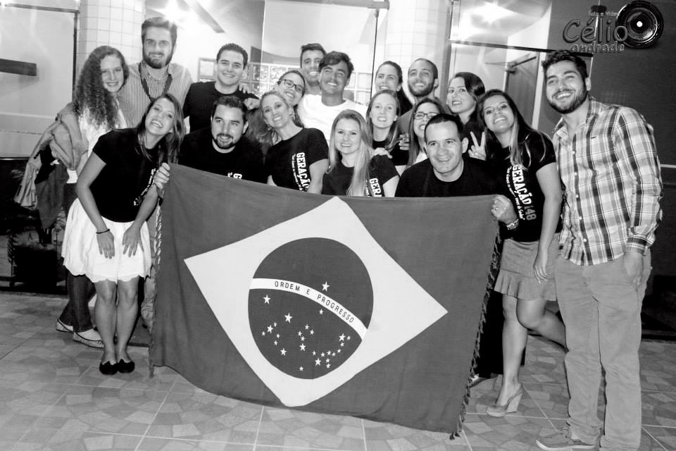 After organising massive youth events Brazilians are always smiling. Now time for pastel party.. Photo Celio Andrade II