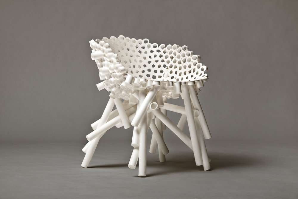 Meltdown Chair: PP Tube 2 White