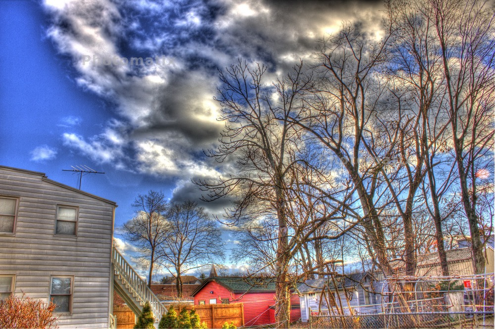 My first HDR image.  Watermarked because I didn't own the software yet.
