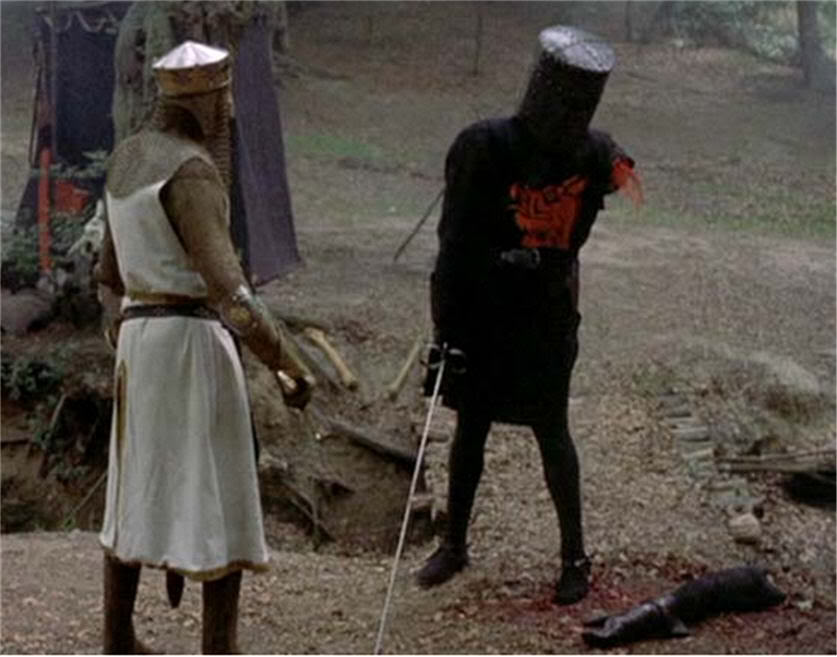 """It's just a flesh wound...."""