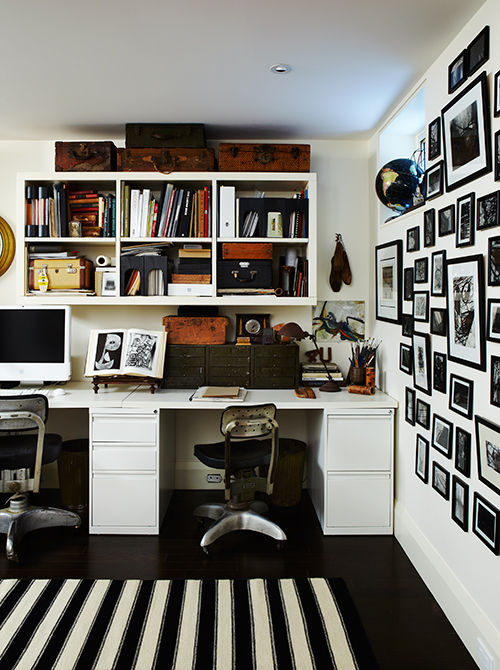 White Walls to lighten Basement Office (Photo by Angus Fergusson)