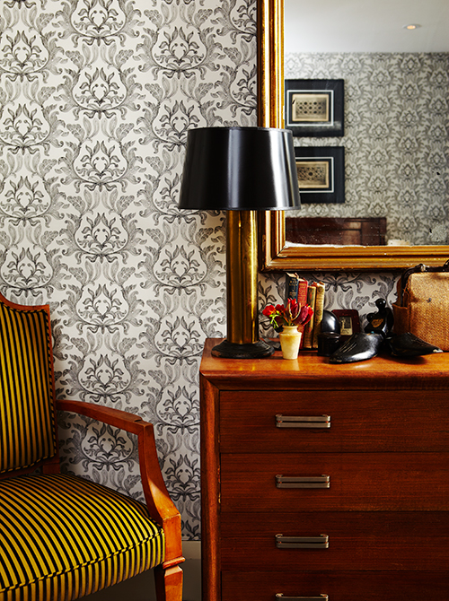 Fabric Upholstered Walls for French Deco design (Photo by Angus Fergusson)