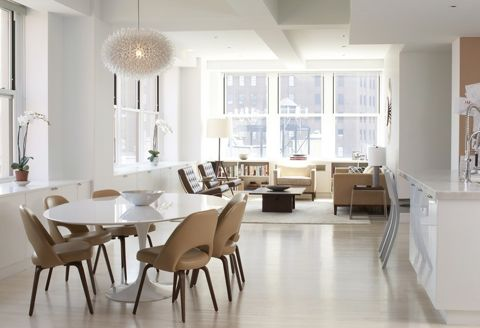 Tribeca Duplex - love the feeling of space, the white floors, the natural colour palette. I would move in a heartbeat! (Archinect)
