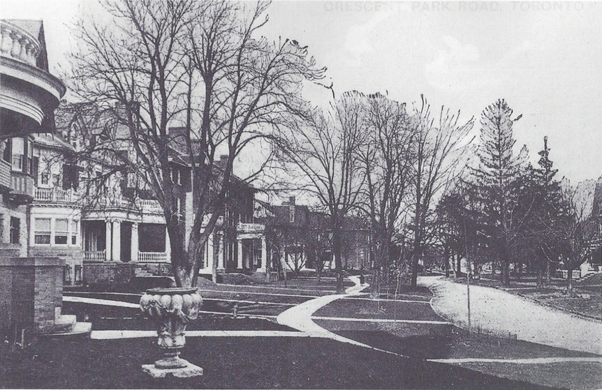 """From Bess Hillery Crawford's 2000 book """"Rosedale"""", our urn sits on a front lawn in Chestnut Park circa 1915."""