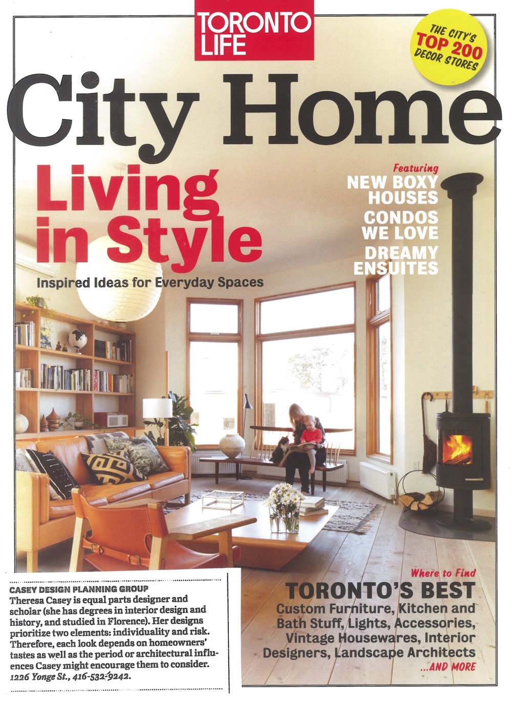 """Toronto's Best Interior Designers"" City Home, 2014"