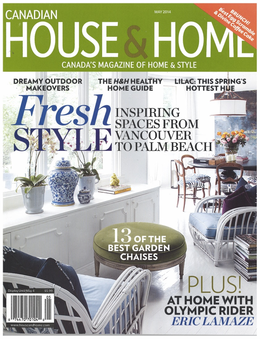 """A Creative Retreat""                                                       House & Home, May 2014                                           (Images courtesy of House & Home)"