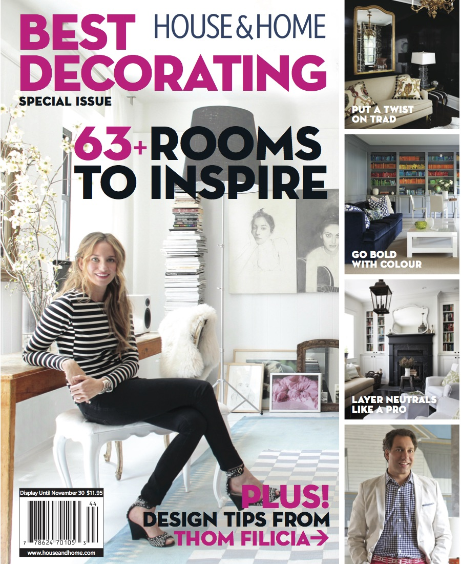 """Best Decorating"" House & Home, Fall 2014  (Images courtesy of House & Home)"