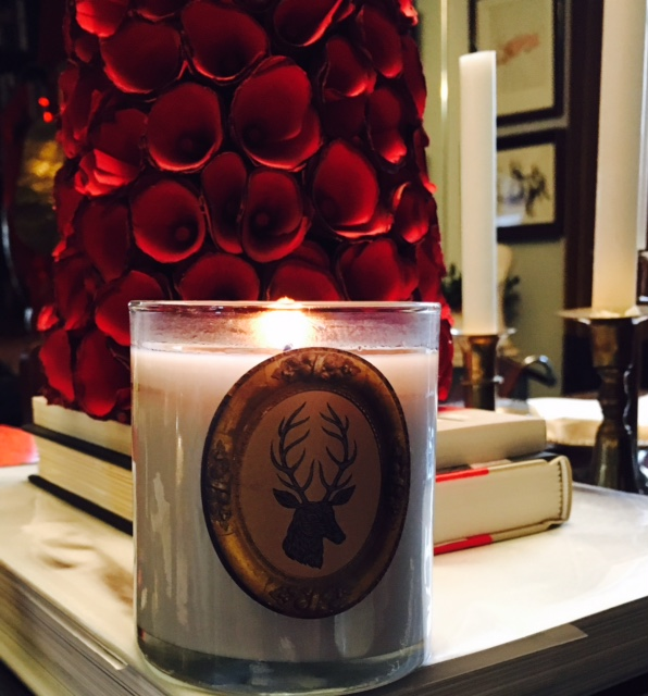 My candle at home from Love the Design.