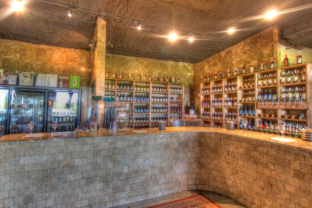 The tasting bar