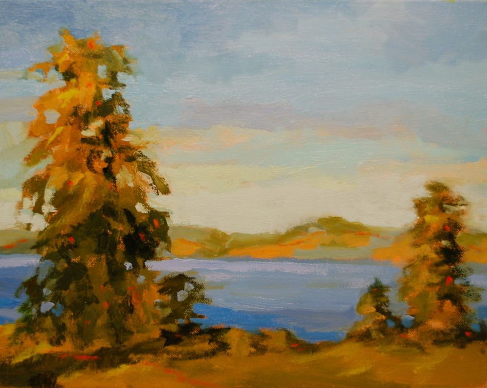 Morning on the Hudson / Oil on Canvas / 11 x 14 / $700