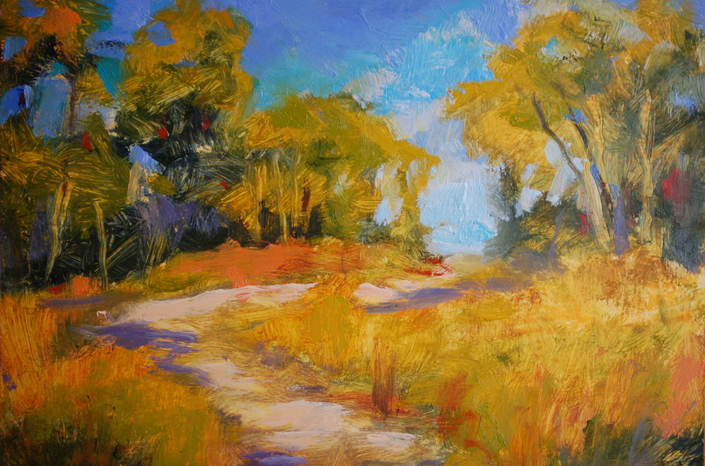 """Beaten Path"", Oil on Canvas, 7x5, $295"