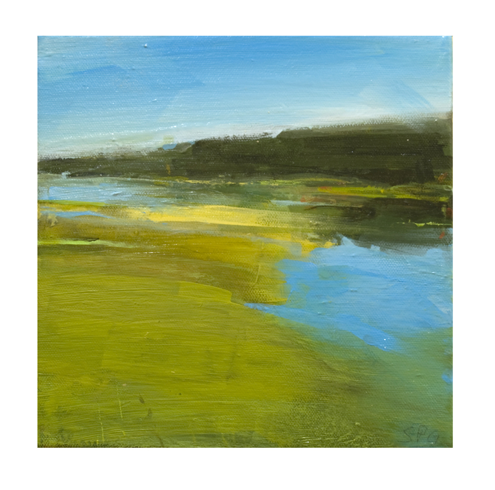 """Marshland"", acrylic on canvas, 8x8, $375"