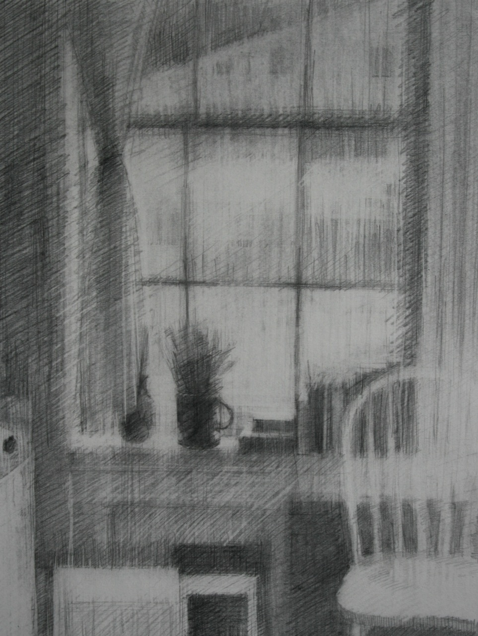Schmitz_NorthSideStudioLight_graphite on paper_20x16_SOLD.jpg