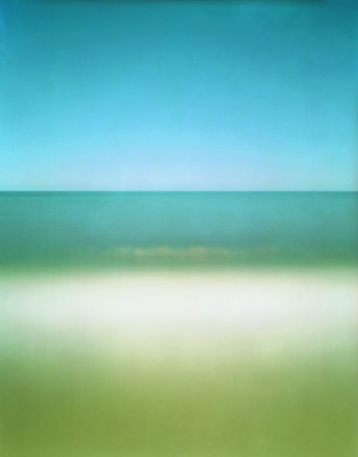 """Green, Blue, White"", photograph, 26x30"