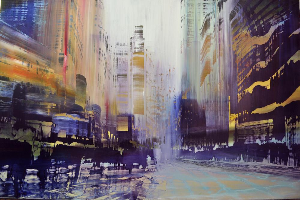 """""""City Uptempo"""", oil on linen, 40x60"""