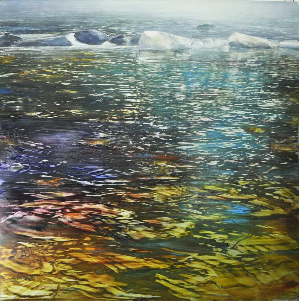 Dunlop_Mist and reflections_ oil on brushed silver anodized aluminum_ 36x36.jpg