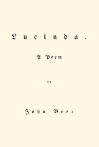 Cover of Lucinda by John Beer