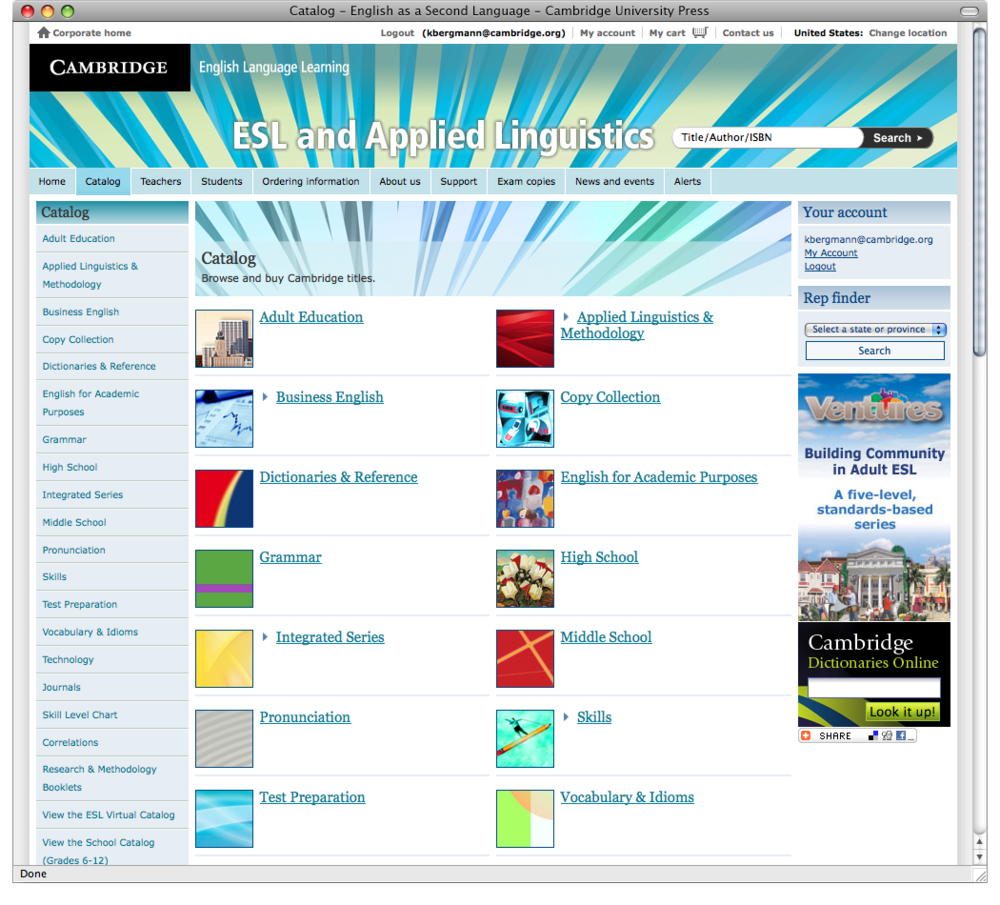 The integrated banners shifted in color tones across the site.