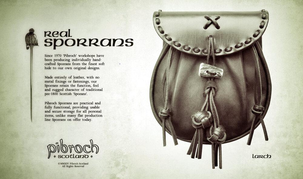 Pibroch Scotland Sporrans - Larch
